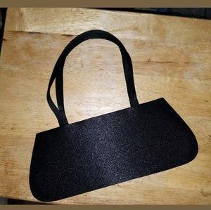 Handbags - NWOT VINTAGE SATIN BLACK SHOULDER EVENING BAG